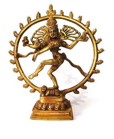 Estátua Shiva Nataraja -  36 cm - em Bronze