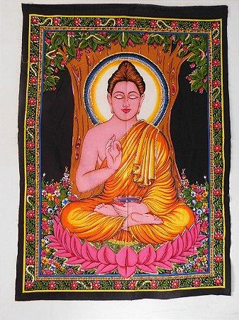 Painel Indiano em Tecido - Buda