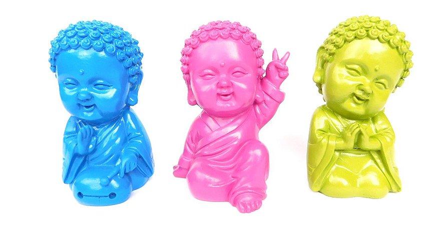 Trio Monges Budistas coloridos