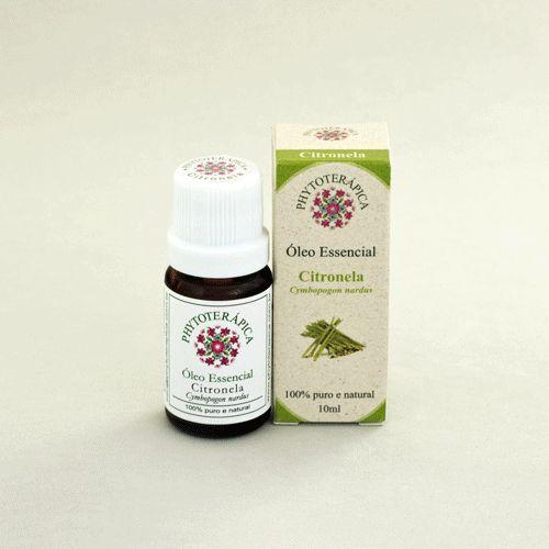 Óleo Essencial de Citronela - Cymbopogon nardus 10 ml (Phytoterápica)