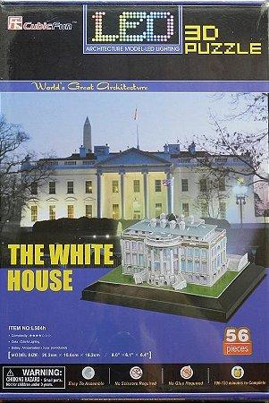 The White House - 3D Puzzle - CubicFun - com iluminação por leds !!!
