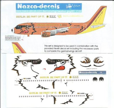 Decal Airbus A319 German Wings - escala 1/144 - Nazca-decals