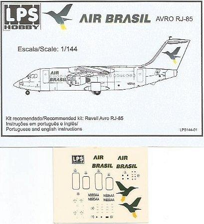 Decal RJ-85 Air Brasil - escala 1/144 - LPS Hobby