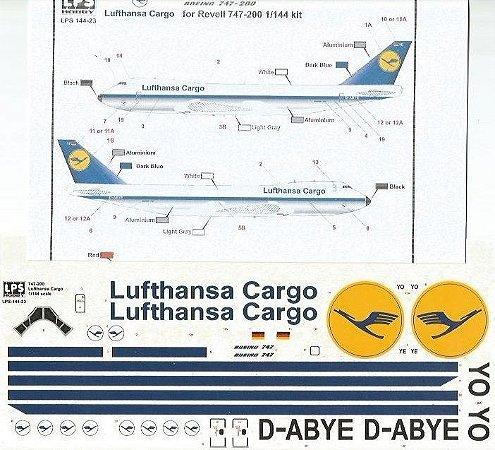 Decal 747-200 Lufthansa Cargo - escala 1/144 - LPS Hobby