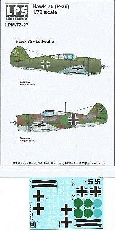 Decal Hawk 75 (P-36) - Luftwaffe - escala 1/72 - LPS Hobby