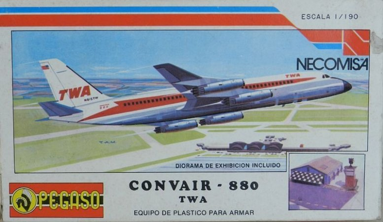 Convair 880 - escala 1/190 - Pegaso