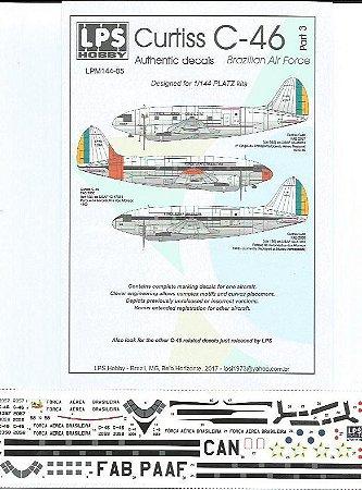 Decal Curtiss C-46 FAB - escala 1/144 - LPS Hobby