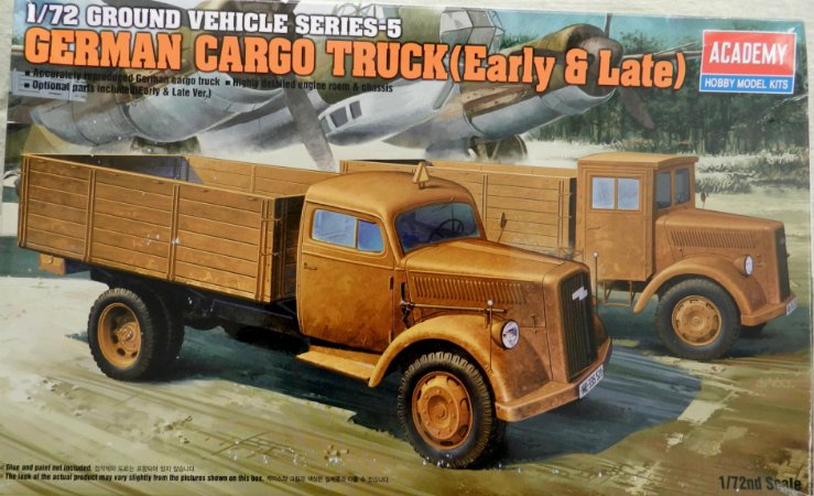 German Cargo Truck (early and late) - escala 1/72 - Academy