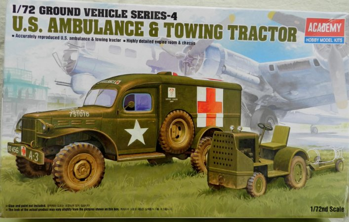 U.S. Ambulance & Towing tractor - escala 1/72 - Academy