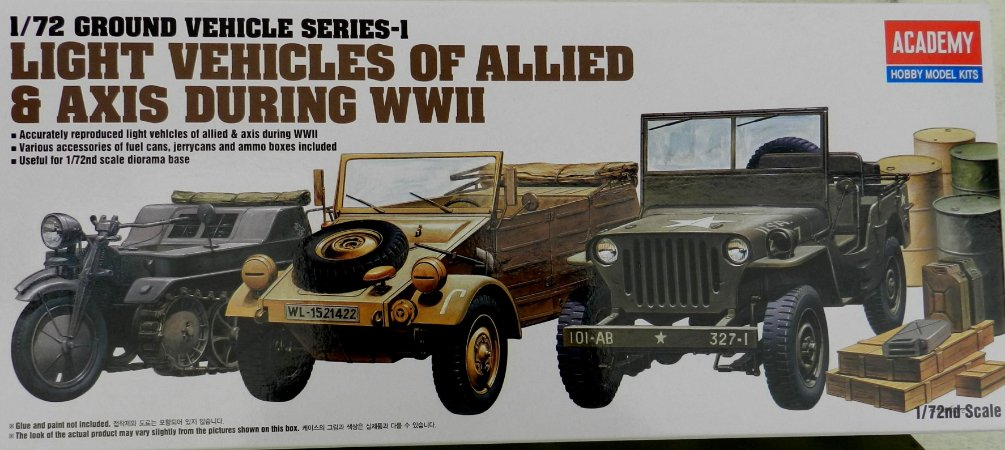 Light Vehicles of Allied & Axis During WWII - escala 1/72 - Academy