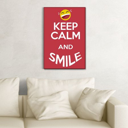 Quadro Decorativo - Keep calm and smile