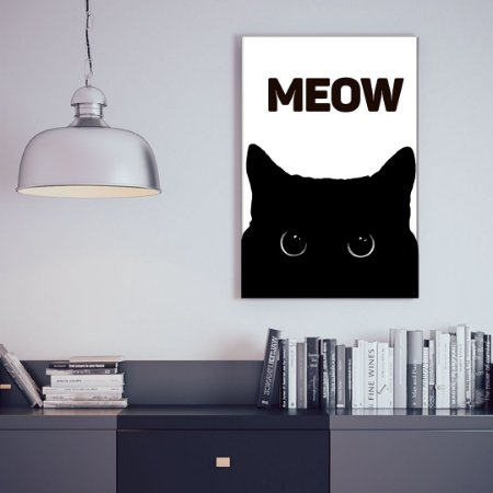 Quadro Decorativo - Meow