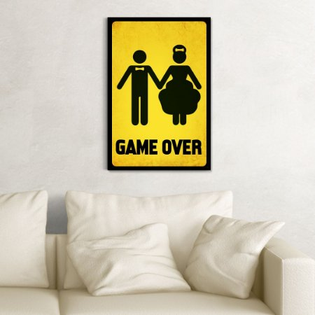 Quadro Decorativo - Gamer Over