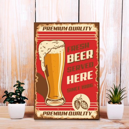 Quadro Decorativo - Fresh beer served here