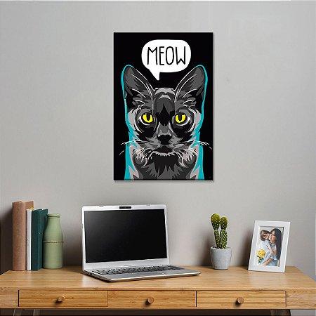 Quadro Decorativo - Gato Meow