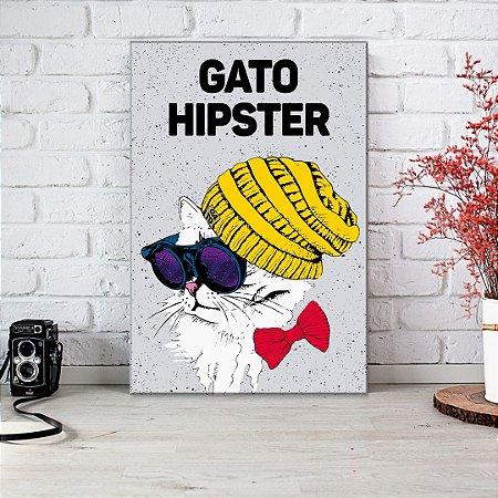 Quadro Decorativo - Gato Hipster
