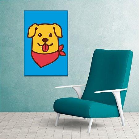 Quadro Decorativo - Cachorro com bandana