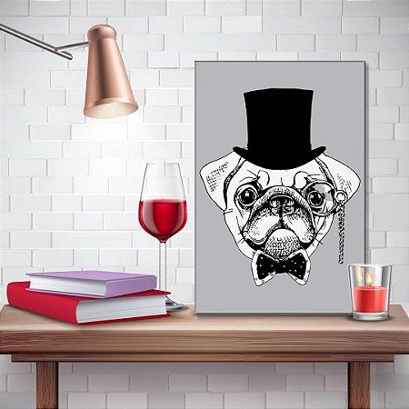 Quadro Decorativo - Pug vintage