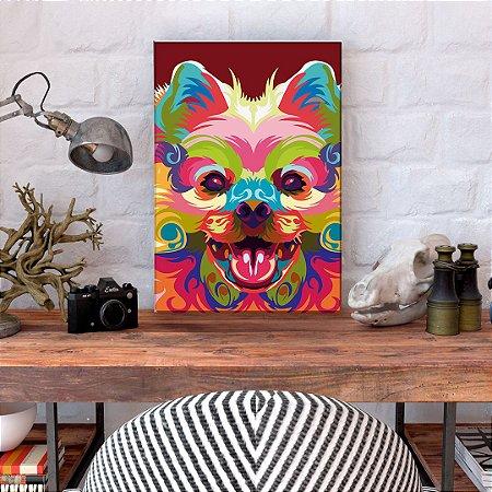Quadro Decorativo - Cachorro Wpap colorido