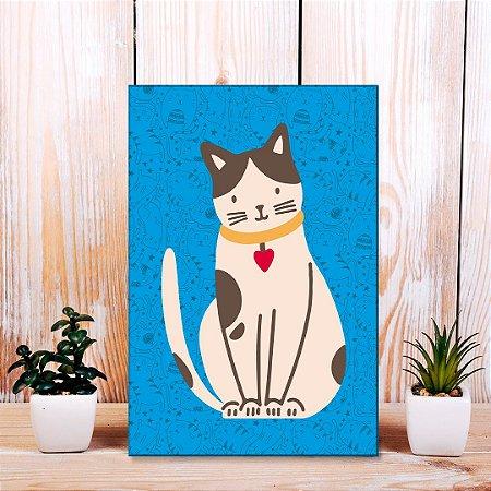 Quadro Decorativo - Gato flat design