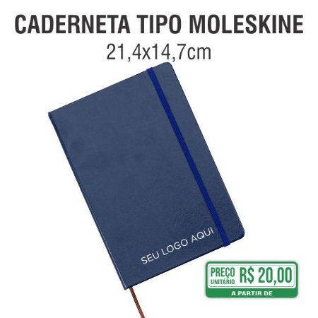 Caderneta tipo Moleskine - 21,4x14,7 cm