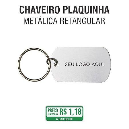 Chaveiro Metal Plaquinha