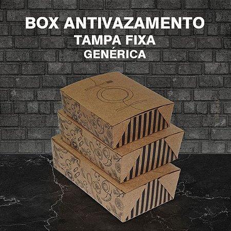Box Antivazamento com tampa fixa -  GENÉRICA (100 unidades)