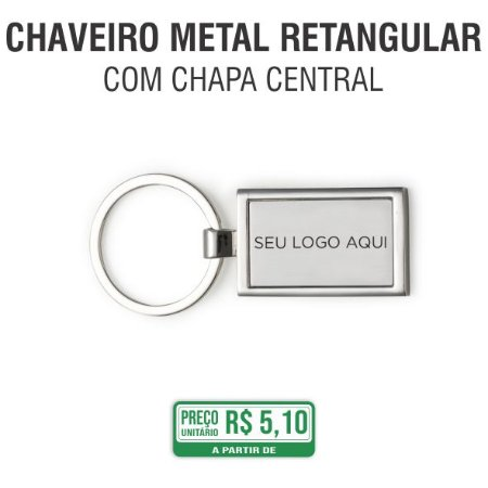 Chaveiro Metal Retangular