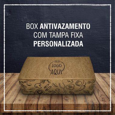 Box Antivazamento com tampa fixa -  PERSONALIZADA (2000 unidades)