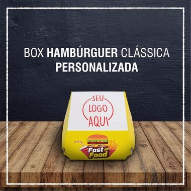Box Hambúrguer clássica -  PERSONALIZADA (2000 unidades)