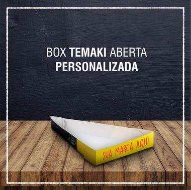 Box Temaki aberta -  PERSONALIZADA (2000 unidades)