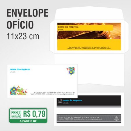 Envelope Ofício - 11 x 23 cm