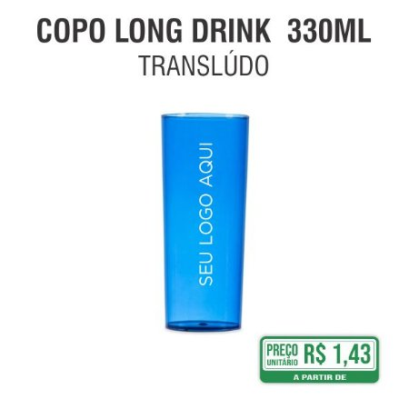 Copo Long Drink Translúcido 330ml
