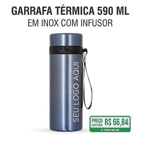 Garrafa Térmica em Inox com Infusor 590 ml