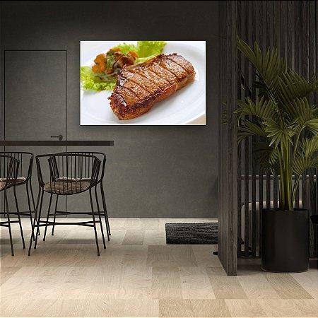 Quadro Decorativo - Bife com Salada