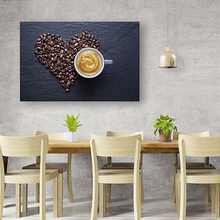 Quadro Decorativo - Coração de Café