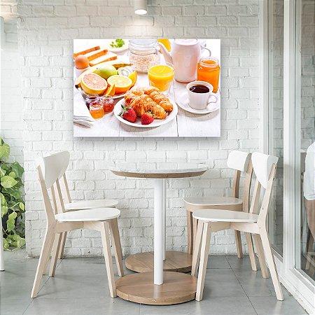 Quadro Decorativo - Café da Manhã com Morango