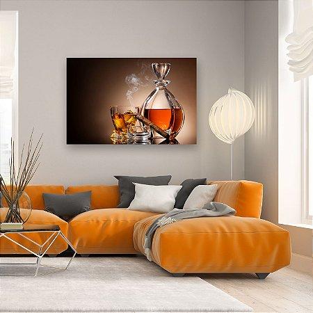 Quadro Decorativo - Whisky e Charuto