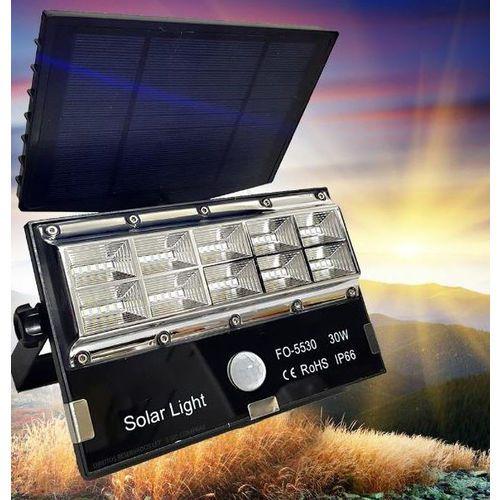 Refletor Solar 30w Microled Recarregável Placa Solar Sensor de Presença