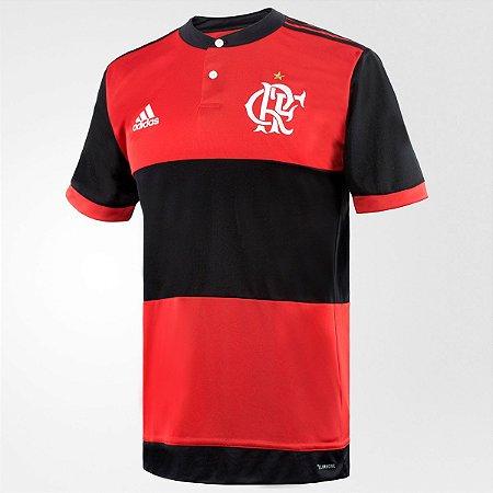 ab970be216 Camisa Flamengo I 17 18 s nº - Torcedor Adidas Masculina - Preto e ...
