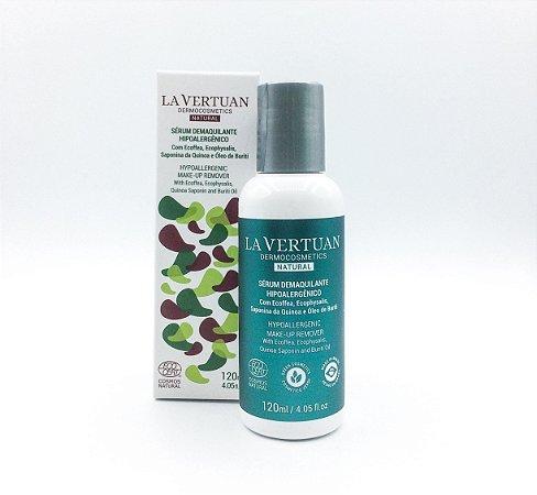 Sérum Demaquilante Hipoalergênico La Vertuan 120ml. Vegano e Natural Certificado.  A solução para peles sensíveis!