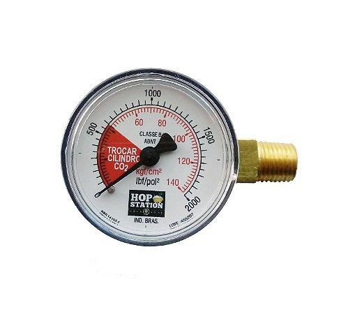 Manômetro Lateral 140 KGF/CM2