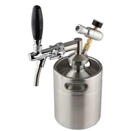 Kit Barril Growler Inox 5L C/ Torneira Italiana