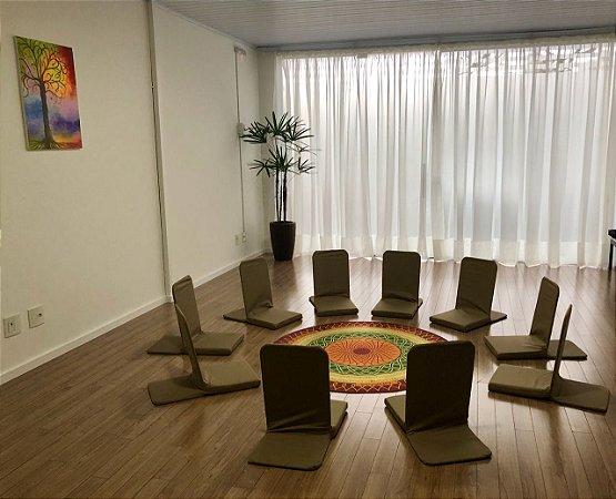 Kit 10 Cadeiras De Meditação - Caminhos Do Yoga (cor a combinar)