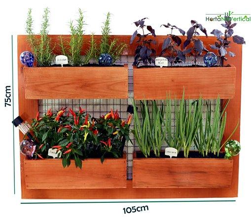 Horta Vertical GIGANTE - 4 Vasos - com tela