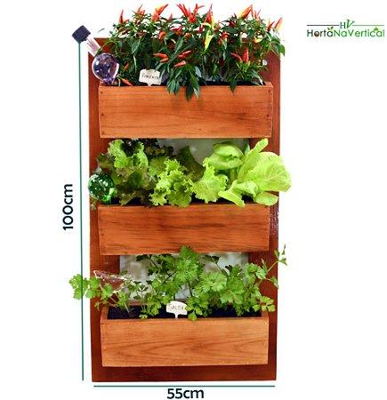 Horta na Vertical + 3 Vasos de plantio direto - Sem Tela