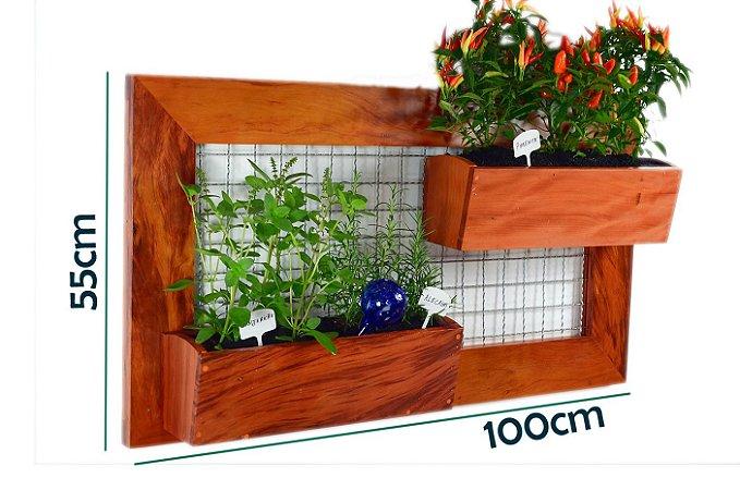 Horta Vertical GRANDE! - 2 Vasos - Com tela