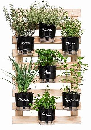 Horta Vertical Auto-Irrigável - Completa com 7 vasos (escolha os vasos)