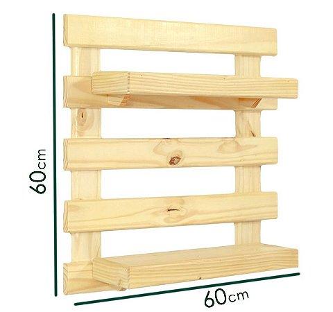 Pallet Horta Vertical  com 2 prateleiras (60cmx60cm) *PRODUTO PREMIUM*