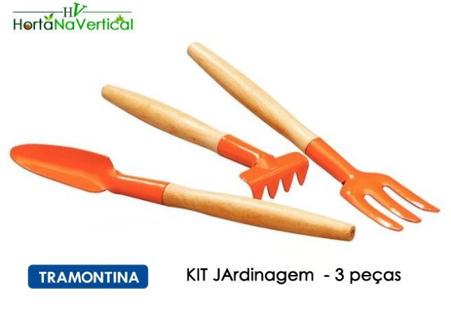 MINI KIT Jardinagem ideal para Horta Auto Irrigável - 3 peças - Tramontina